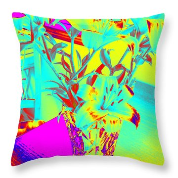 Lilies #4 Throw Pillow