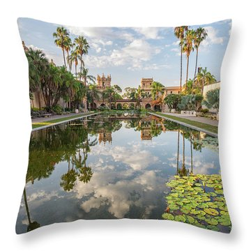 Lilies And Clouds Throw Pillow