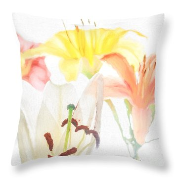 Lilies Throw Pillow by David Perry Lawrence