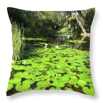 Lilies Of Bok Gardens Throw Pillow