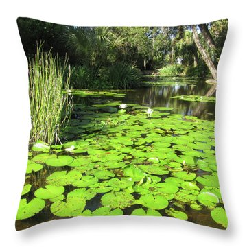 Lilies Of Bok Gardens Throw Pillow