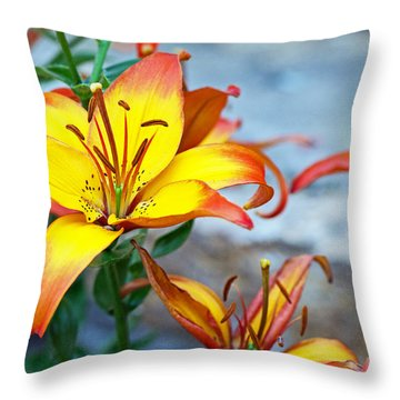 Lilies Of The Field #1 Throw Pillow