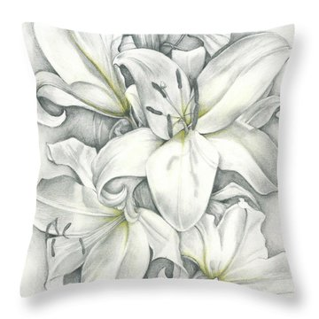 Lilies Pencil Throw Pillow