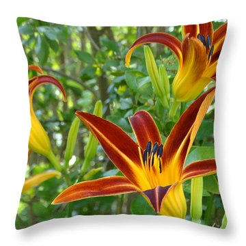 Lilies Sunrise Throw Pillow