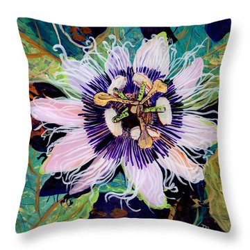 Lilikoi Throw Pillow by Marionette Taboniar