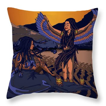 Lilith And Musical Medusa Throw Pillow by Laura Brightwood
