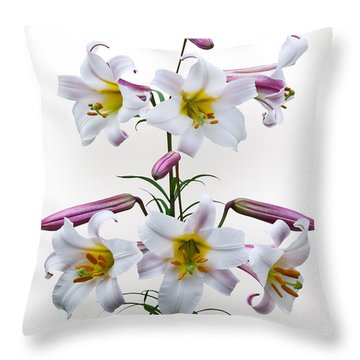 Lilium Regale Throw Pillow by Jane McIlroy