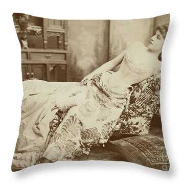 Lillie Langtry (1852-1929) Throw Pillow by Granger