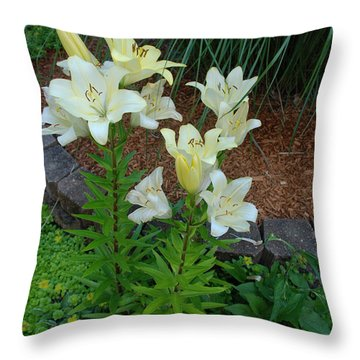 Throw Pillow featuring the photograph Lillies by Ferrel Cordle