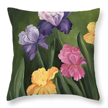 Lill's Garden Throw Pillow by Carol Sweetwood