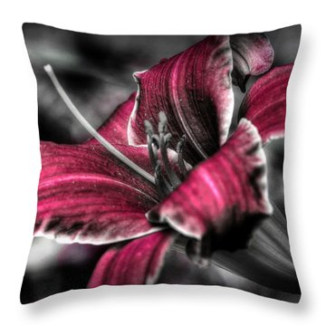 Throw Pillow featuring the photograph Lilly 3 by Michaela Preston