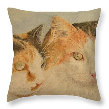 Lilly And Lucy Throw Pillow by Alan Pickersgill