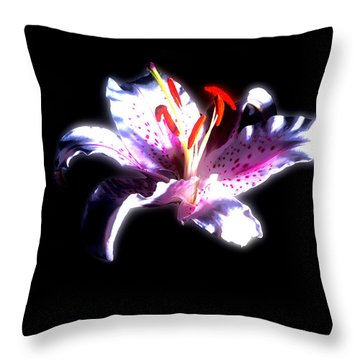 Lilly Flower  Throw Pillow