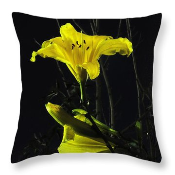 Lilly In The Evening Throw Pillow