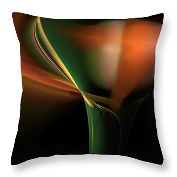 Lilly Of Light Throw Pillow by David Lane