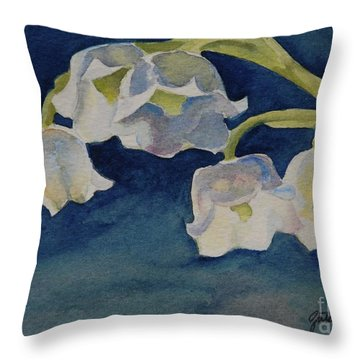 Lilly Of The Valley Throw Pillow by Gretchen Bjornson
