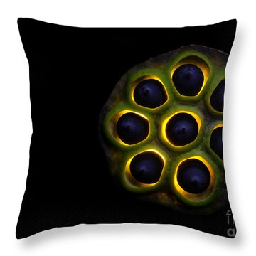 Lilly Pad Seed Pod Throw Pillow