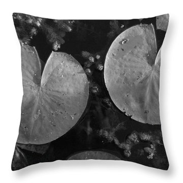 Lilly Pad Symmetry  Throw Pillow by Trish Hale