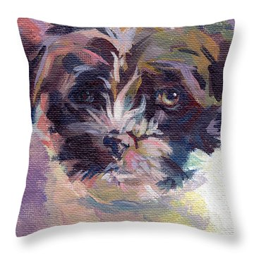 Lilly Pup Throw Pillow by Kimberly Santini