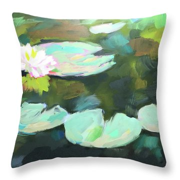 Lillypad Reflections Throw Pillow