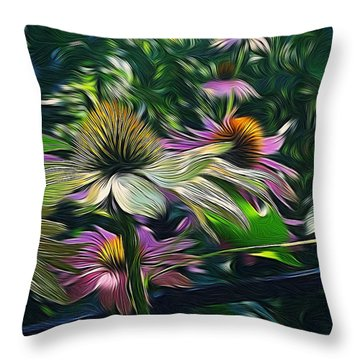Lil's Garden Throw Pillow