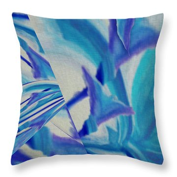 Lily Abstract #1 Throw Pillow