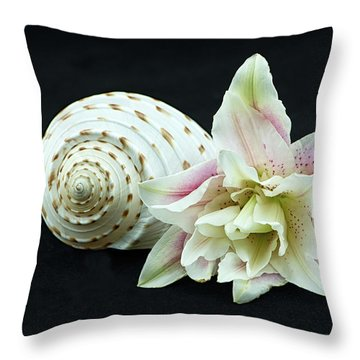 Lily And Shell Throw Pillow