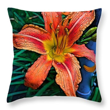 Lily Bold Throw Pillow