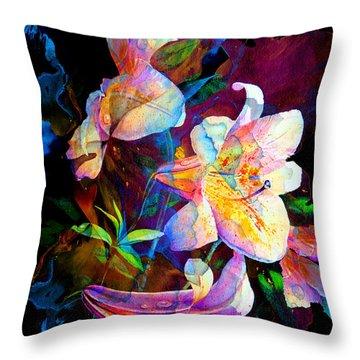 Lily Fiesta Garden Throw Pillow