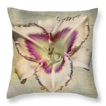 Lily For A Day Throw Pillow by Angela A Stanton