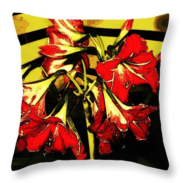 Throw Pillow featuring the digital art Lily Gem by Winsome Gunning