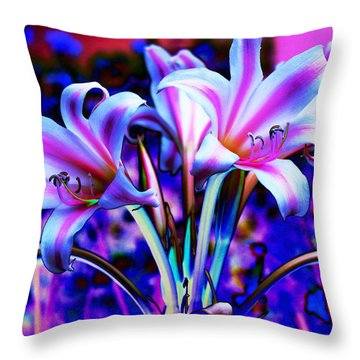 Lily Glow Abstract Throw Pillow by M Diane Bonaparte