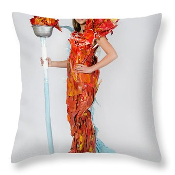 Lily In Fire And Ice Queen Throw Pillow