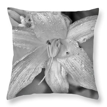 Lily In Infrared Throw Pillow