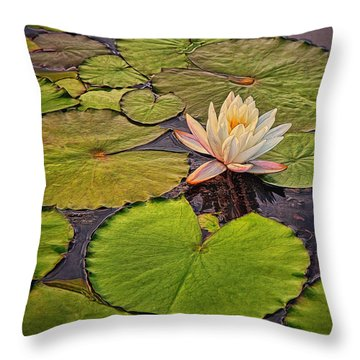 Lily In The Pads Throw Pillow