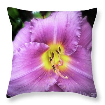 Lily In The Shade Throw Pillow