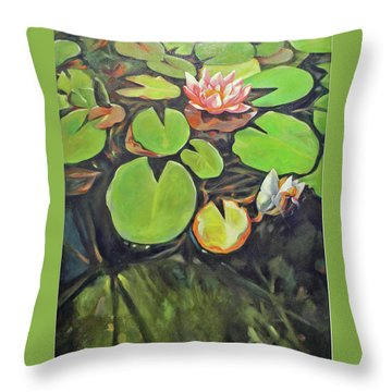 Lily In The Water Throw Pillow