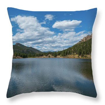 Throw Pillow featuring the photograph Lily Lake Panorama  by Michael Ver Sprill
