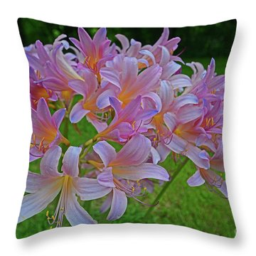 Lily Lavender Throw Pillow