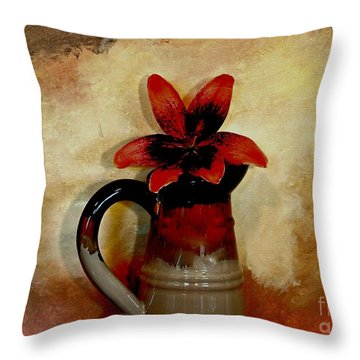 Lily Lovely Throw Pillow by Marsha Heiken
