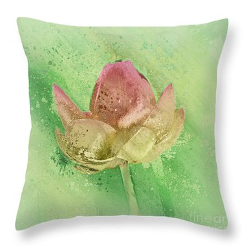 Throw Pillow featuring the mixed media Lily My Lovely - S112sqc88 by Variance Collections