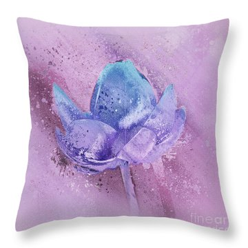 Throw Pillow featuring the digital art Lily My Lovely - S113sqc77 by Variance Collections