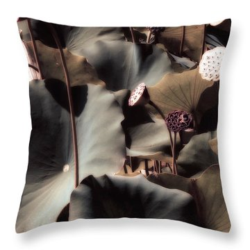 Lily Of The Lake By Mike Hope Throw Pillow