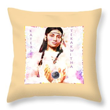 Lily Of The Mohawks 3 Throw Pillow