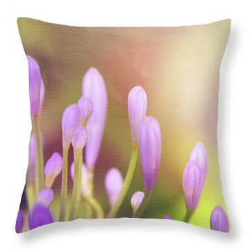 Lily Of The Nile Buds In Summer  Throw Pillow