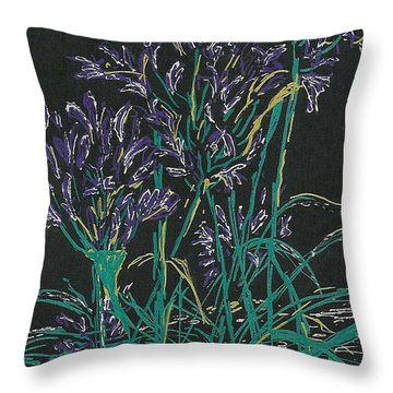 Throw Pillow featuring the mixed media Lily Of The Nile  by Vicki  Housel