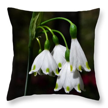Lily Of The Valley 003 Throw Pillow
