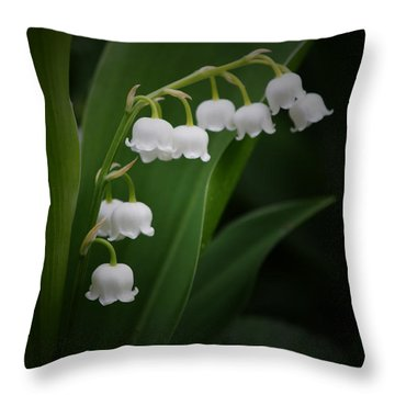 Lily Of The Valley 2 Throw Pillow