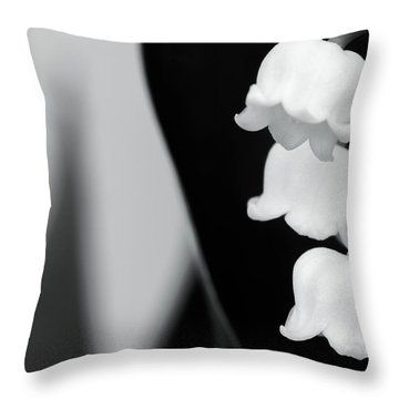 Lily Of The Valley Abstract Throw Pillow