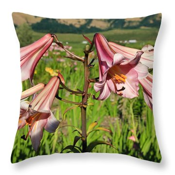 Lily Of The Valley Throw Pillow by Athena Mckinzie